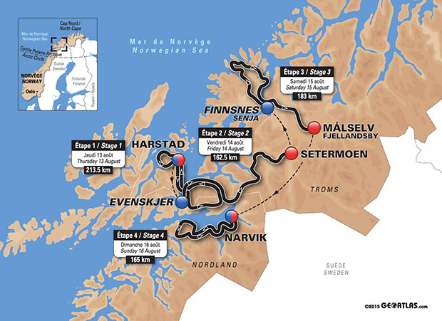 2015 Arcti Race Tour map