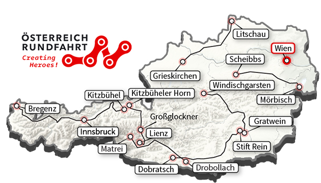 2015 Tour of Austria map