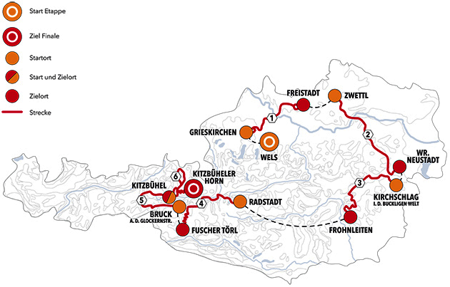 Tour of Austria map