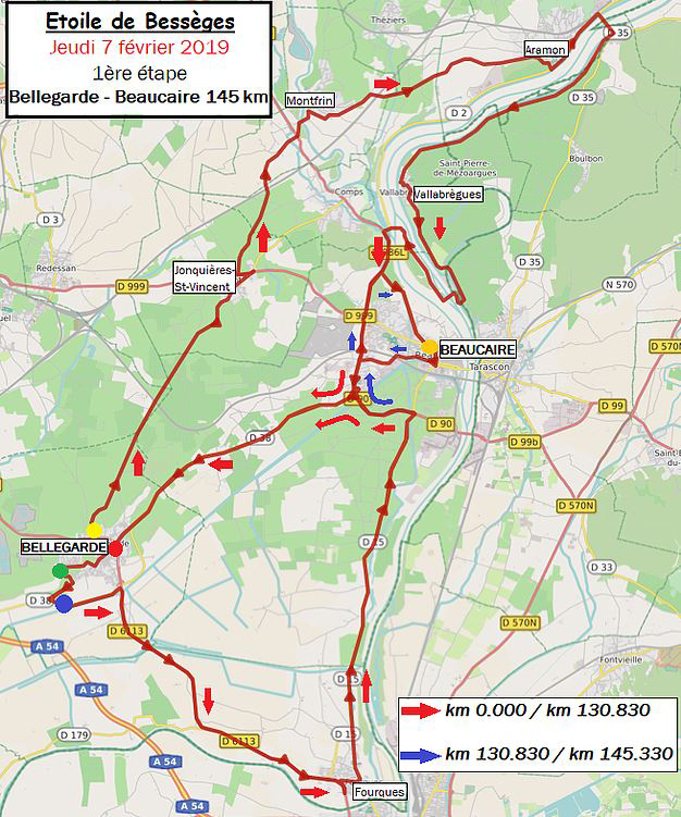 Etoile de Besseges map stage 1