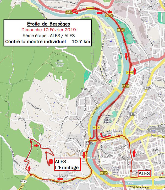 Etoile de Besseges stage four map