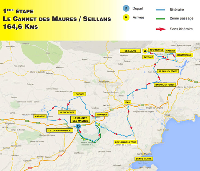Haut Var stage 1 map