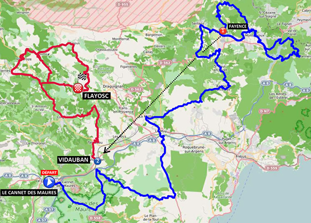 Tour du Haut Var map