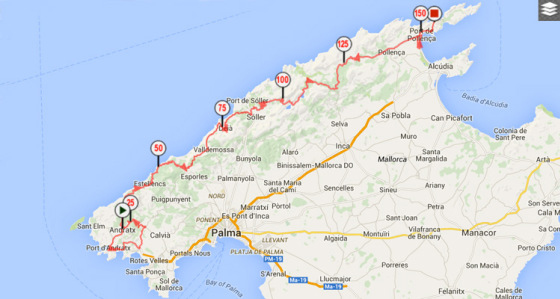 Trofeo Andratx profile and map