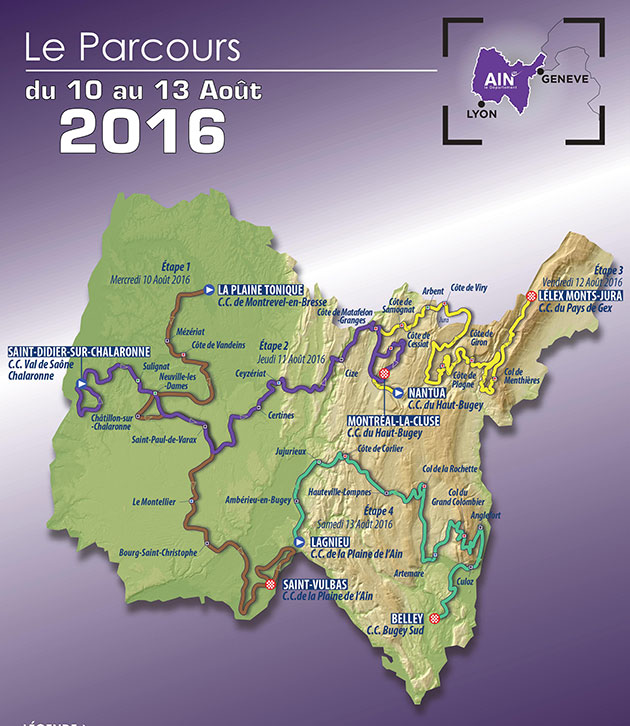 2016 Tour l'ain map