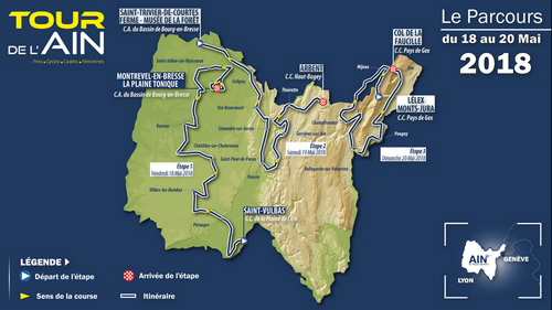 2018 Tour de l'Ain map