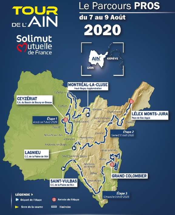 2020 Tour de L'ain map