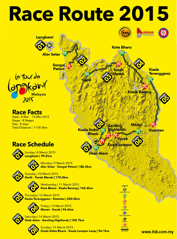 2015 Langkawi race map