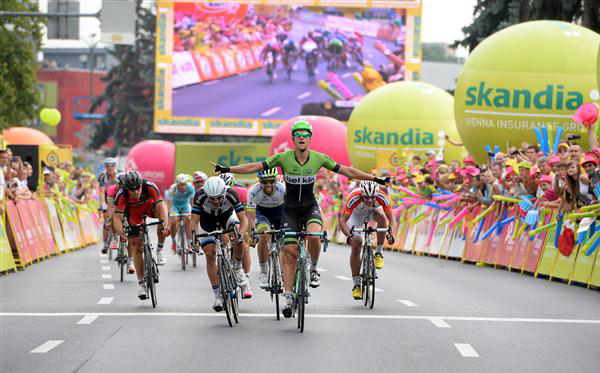 Tjheo Bos wins Tour of Poland stage 3