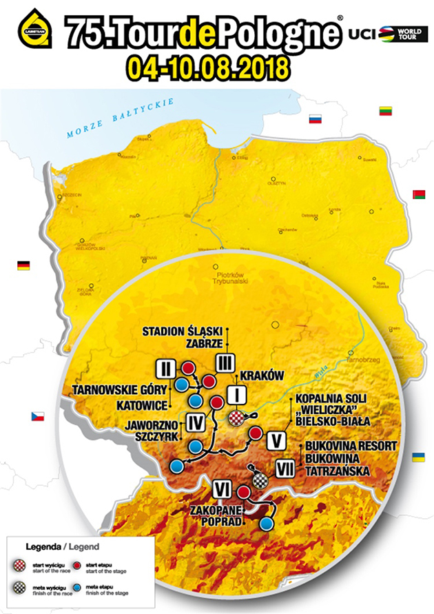 Tour of Poland map