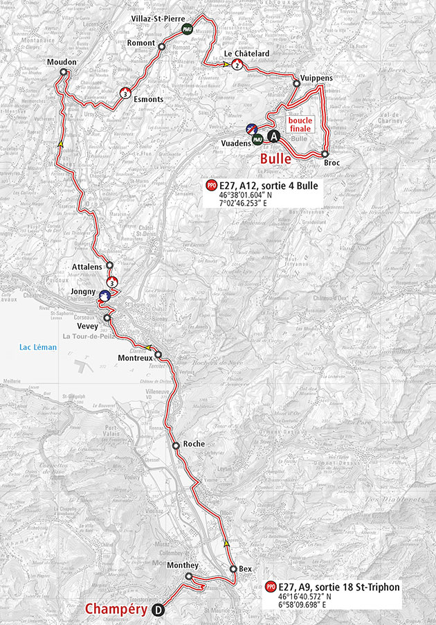 Romandie Tour stage 2 map