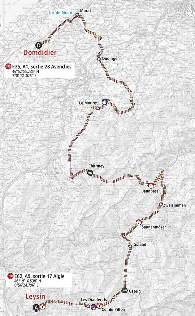 Romandie stage 4 map