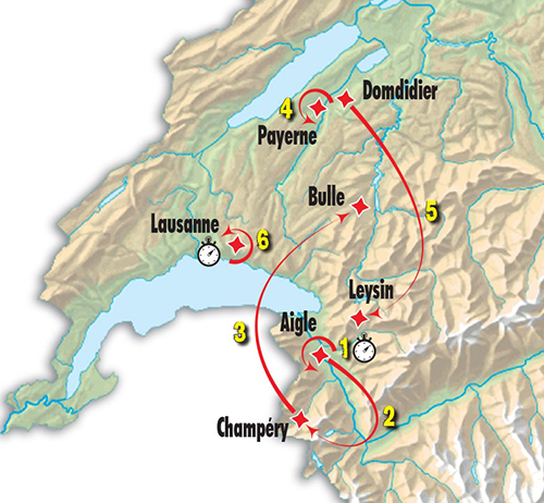 2017 Tour de Romandie map