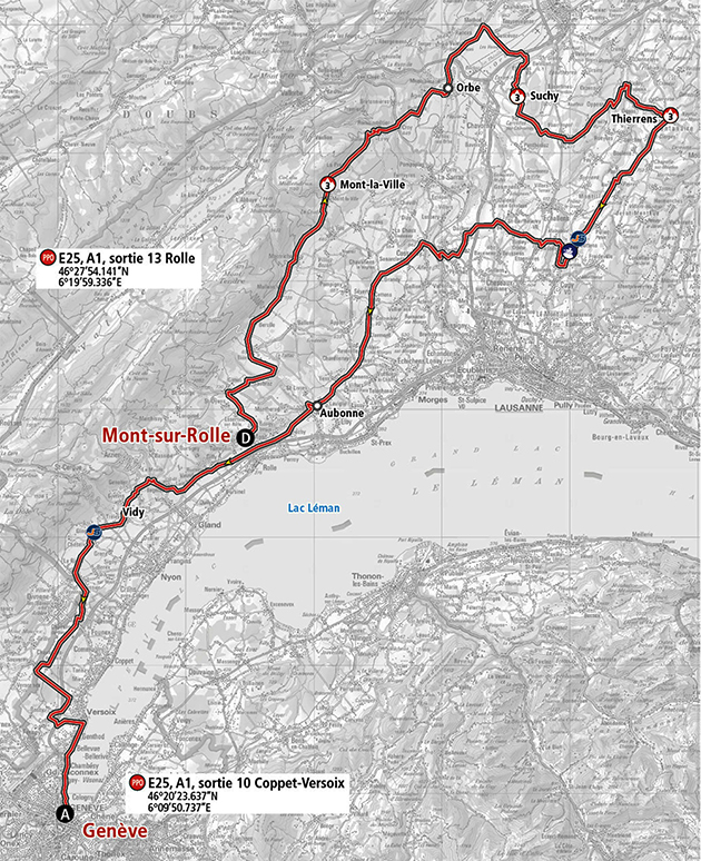 Tour of Romandie stage 5 map