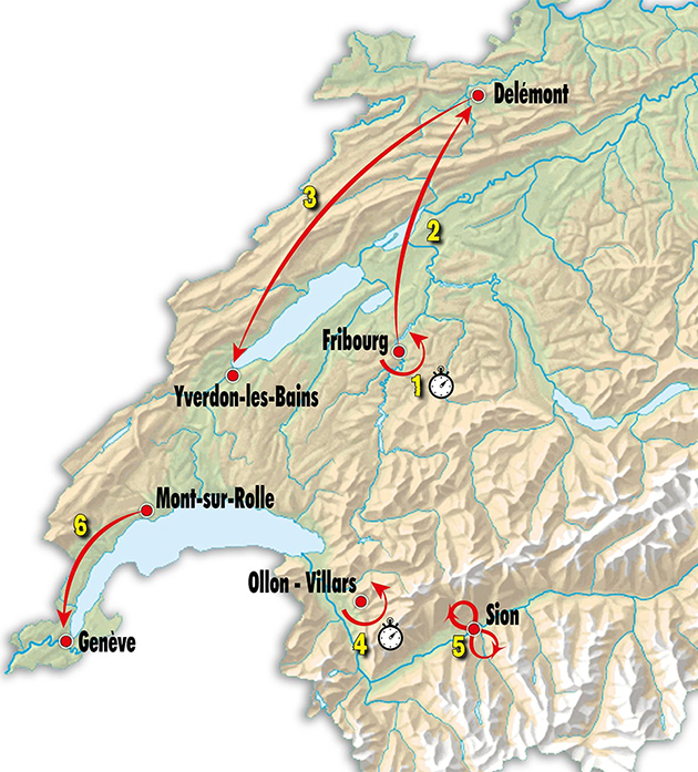 Tour of Romandie map