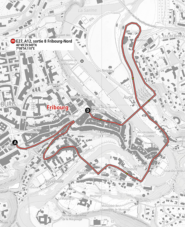 Tour of Romandie prologue map
