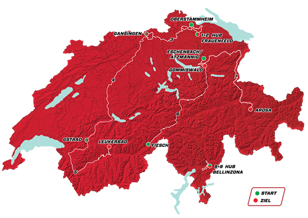 Tpur of Switzerland overall map