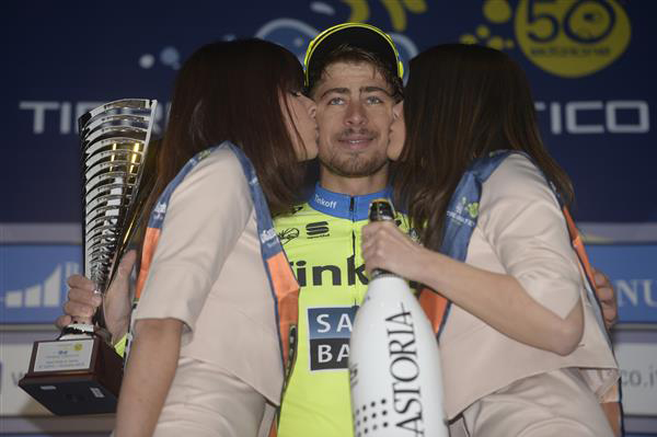 Peter Sagan enjoys his stage win