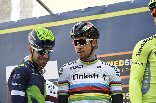 Peter Sagan and Giovanni Vsconti