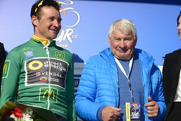 Thomas Voeckler and Raymond Poulidor