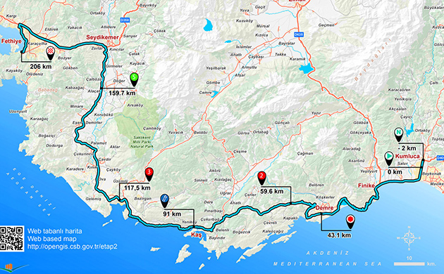 Tour of Turkey stage 2  map