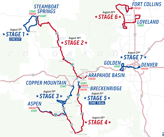 2015 USA Pro Cycling Challenge map