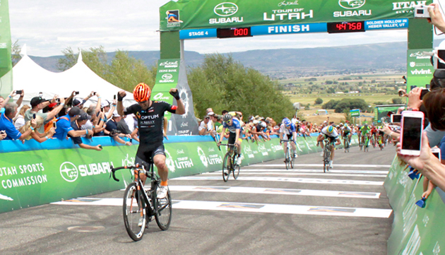 Eric Young wins Tour of Utah stage 4
