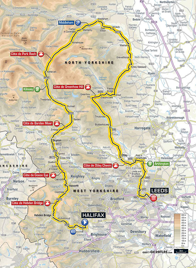 Tour of Yorkshire stage 4 map