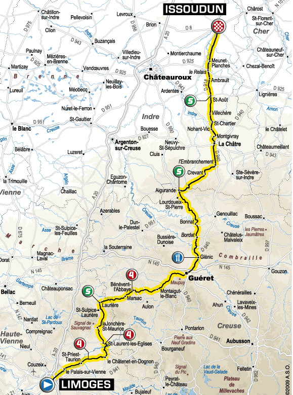 tour de france map 2009. 2009 Tour de France July 4 - July 26, 2009