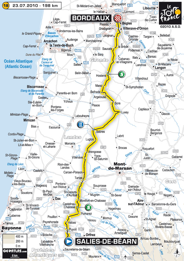 Stage 18 route map