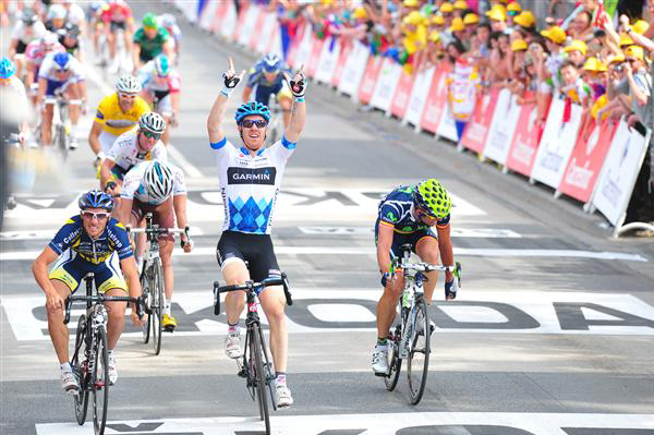Tyler Farrar wins stage three of the 2011 Tour de France