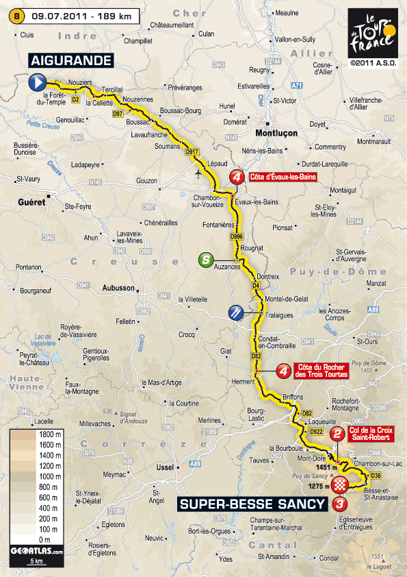 Stage 8 route map