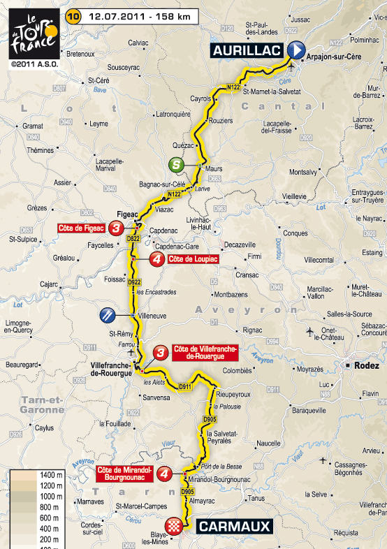 Stage 10 route map