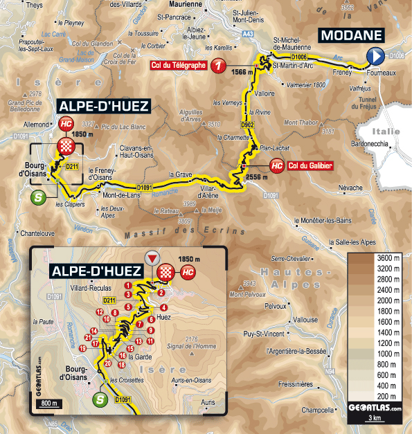 Stage 19 route map