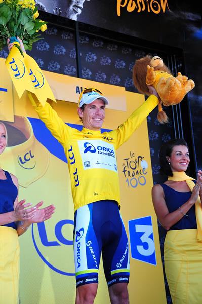 Daryl Impey in yellow