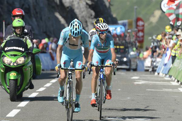 Tanel Kangert and Vincenzo Nibali