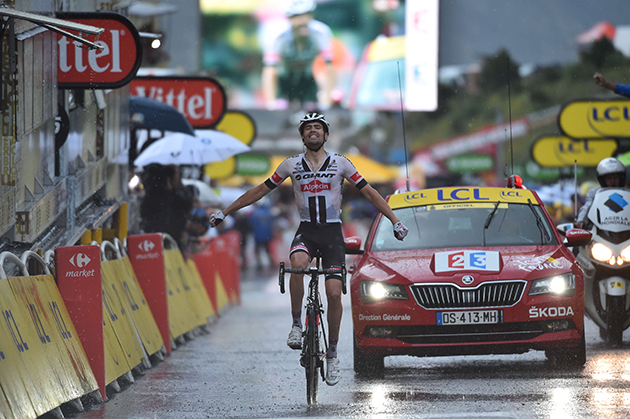 Tom Dumoulin winning stage 9