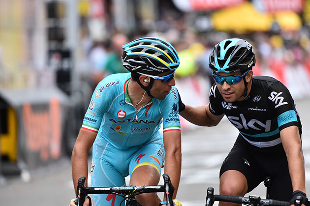 Nibali and Landa