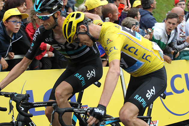 Wouter Poels and Chris Froome