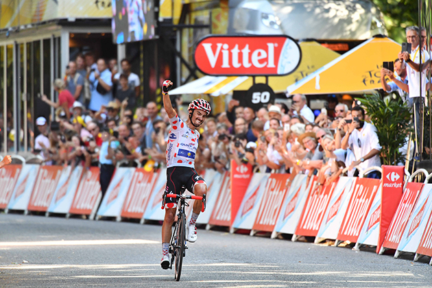 Julian Alaphilippe wins stage 16