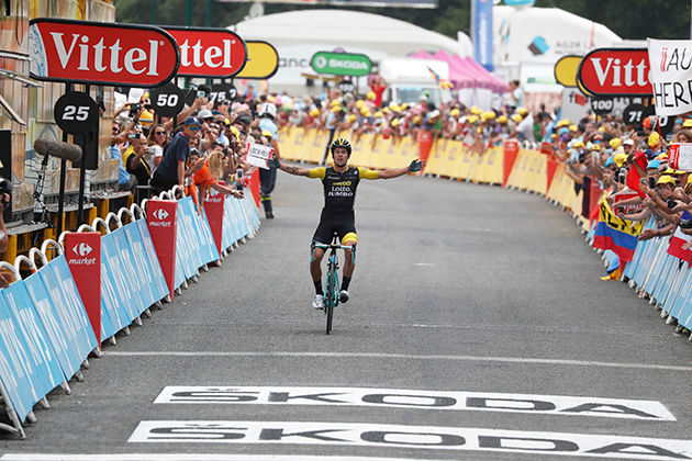 Primoz Roglic wins Tour stage 19