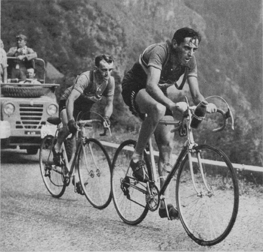 Jean Robic and Fausto Coppi on L'Alpe d'Huez
