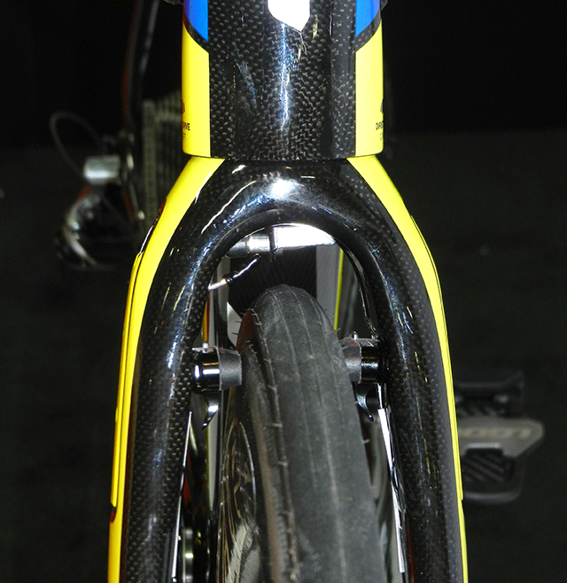 look integrated front brake