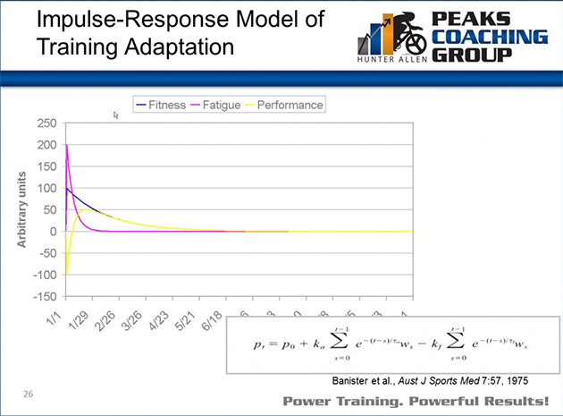 Impulse-Response Model of Training Adaption
