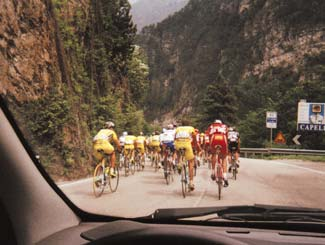 Pantani and the Mercatone Uno team