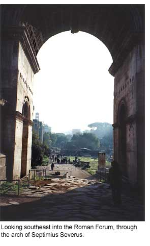 The arch of Septimius Severus