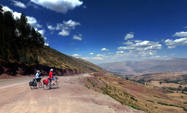 On the road from Cusco to Pisac Peru