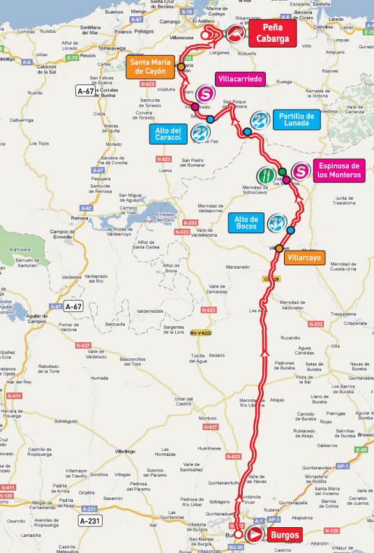 Stage 14 route map