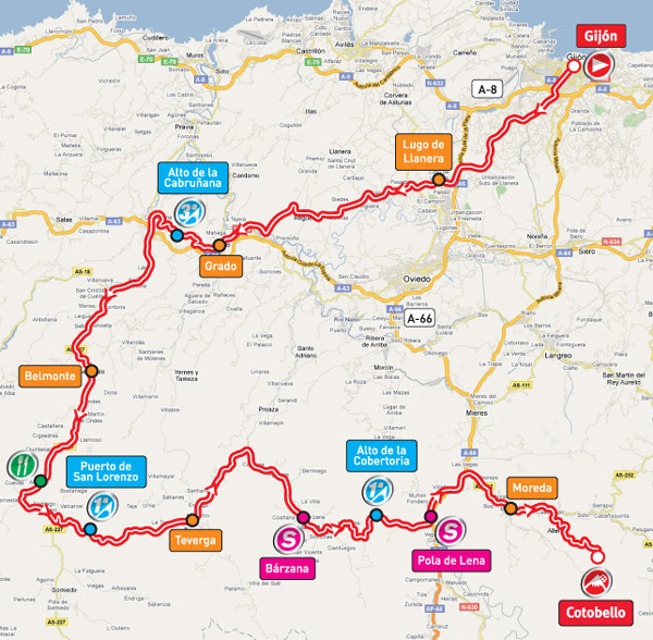Stage 16 route map