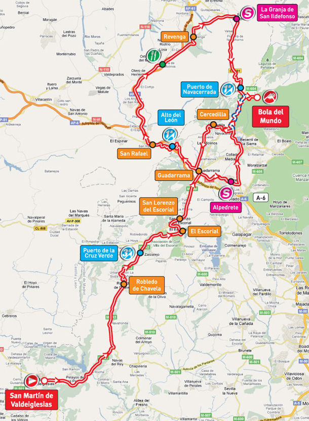 Stage 20 route map
